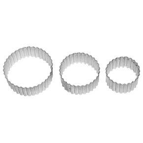 Kreis, gerippt | 3-fach Terrasse, 4; 5; 6 cm
