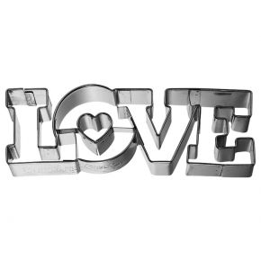 Ausstechform | Love Schriftzug