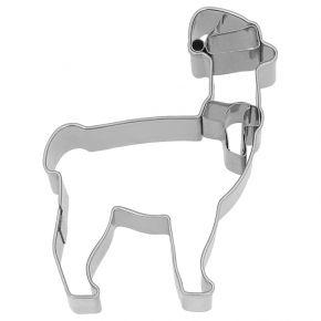 Ausstechform   Weihnachts-Lama, 9 cm