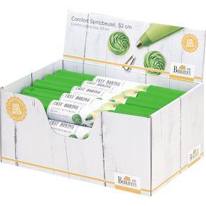 Display mit Einwegspritzbeuteln 53 cm, grün   Easy Baking