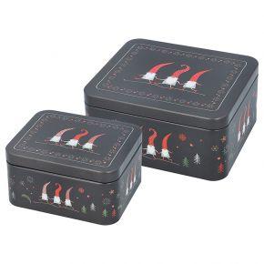 Gebäckdosen-Set | Weihnachtswichtel, klein