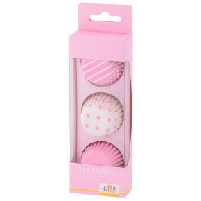 Mini-Muffin-Papierförmchen | Colour Splash, Rosa