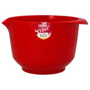 Rühr- und Servierschüssel, Rot, 2,0 Liter