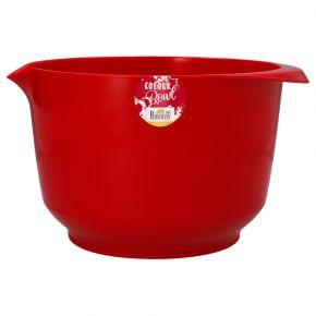 Rühr- und Servierschüssel, Rot, 4,0 Liter