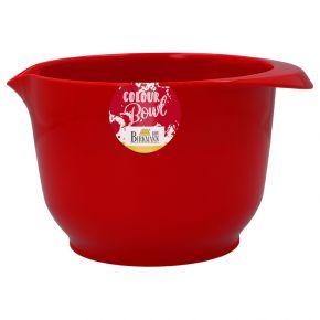 Rühr- und Servierschüssel, Rot, 1,5 Liter
