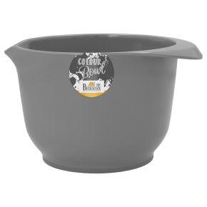 Rühr- und Servierschüssel, Grau, matt, 1,5 Liter