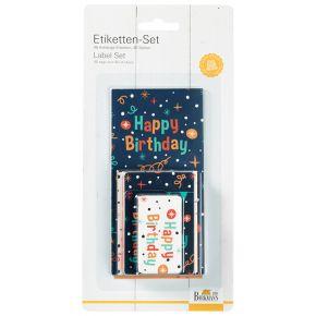 Etiketten- & Geschenkanhänger-Set   Happy Birthday