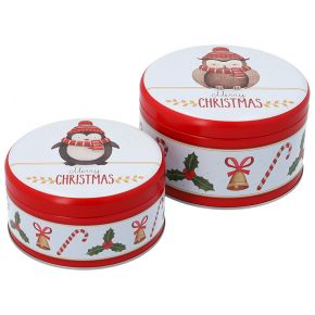 Gebäckdosen-Set, klein | Merry Christmas 2020