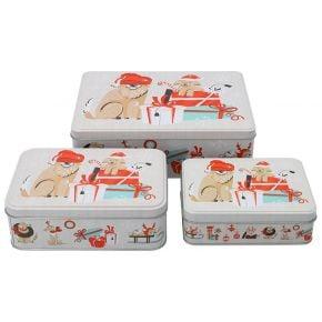 Gebäckdosen-Set | Weihnachtshunde