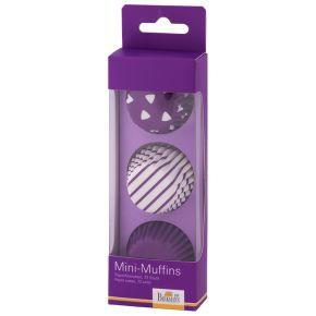 Mini-Muffin-Papierförmchen | Colour Splash, Lila