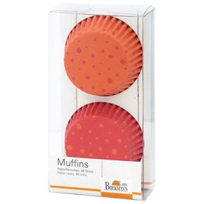 Muffin-Papierförmchen | Happy Birthday, Gelb/Orange