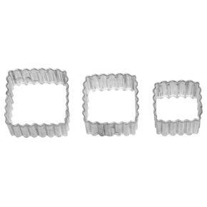 Quadrat, gerippt   3-fach Terrasse, 3; 3,5; 4,5 cm
