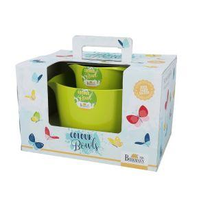 Set   Rührbecher und Rührschüssel, grün, 3 Liter