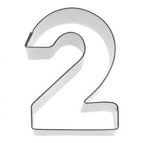 Zahl 2, 6 cm