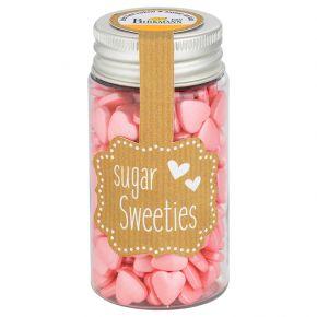 Zuckerherzen | Pink-Metallic