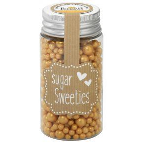 Zuckerperlen-Mix | Gold, 4 - 8 mm