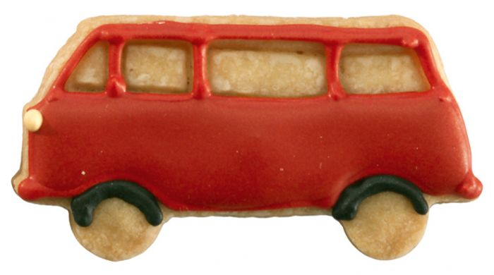 Birkmann Ausstechform Hippie-Bus Ausstecher Plätzchenform Keks Edelstahl 8 cm